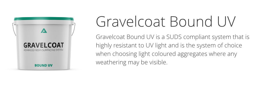 Gravelcoat resin bound UV surfacing system